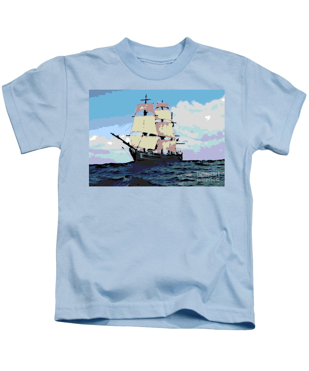 Boat Kids T-Shirt featuring the photograph Bounty by George Pedro