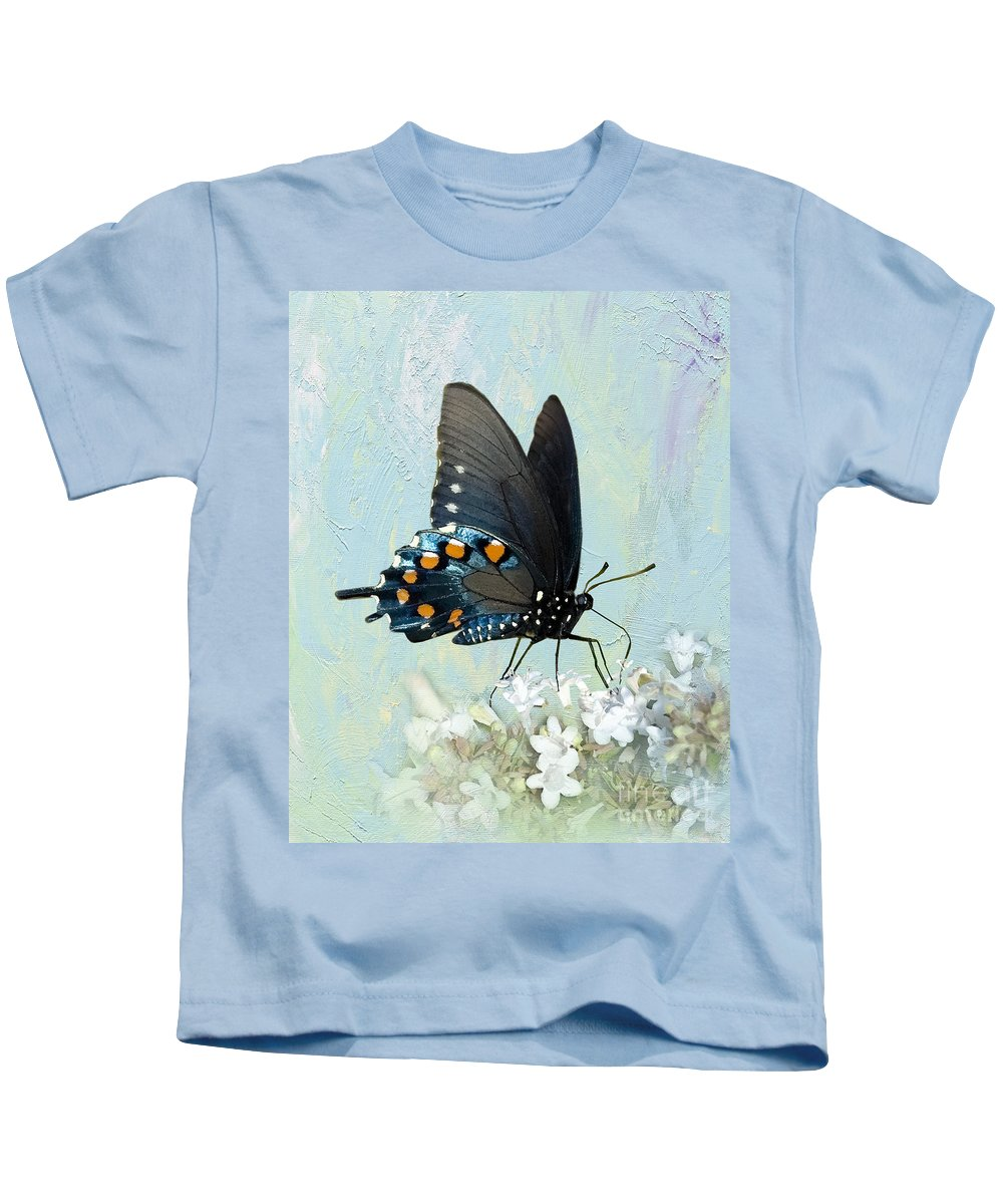 Pipevine Swallowtail Kids T-Shirt featuring the photograph Butterfly Candy by Betty LaRue