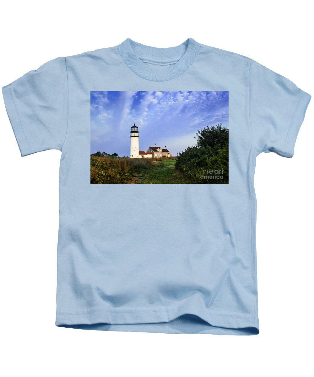New England Kids T-Shirt featuring the photograph Cape Cod Lighthouse by John Greim