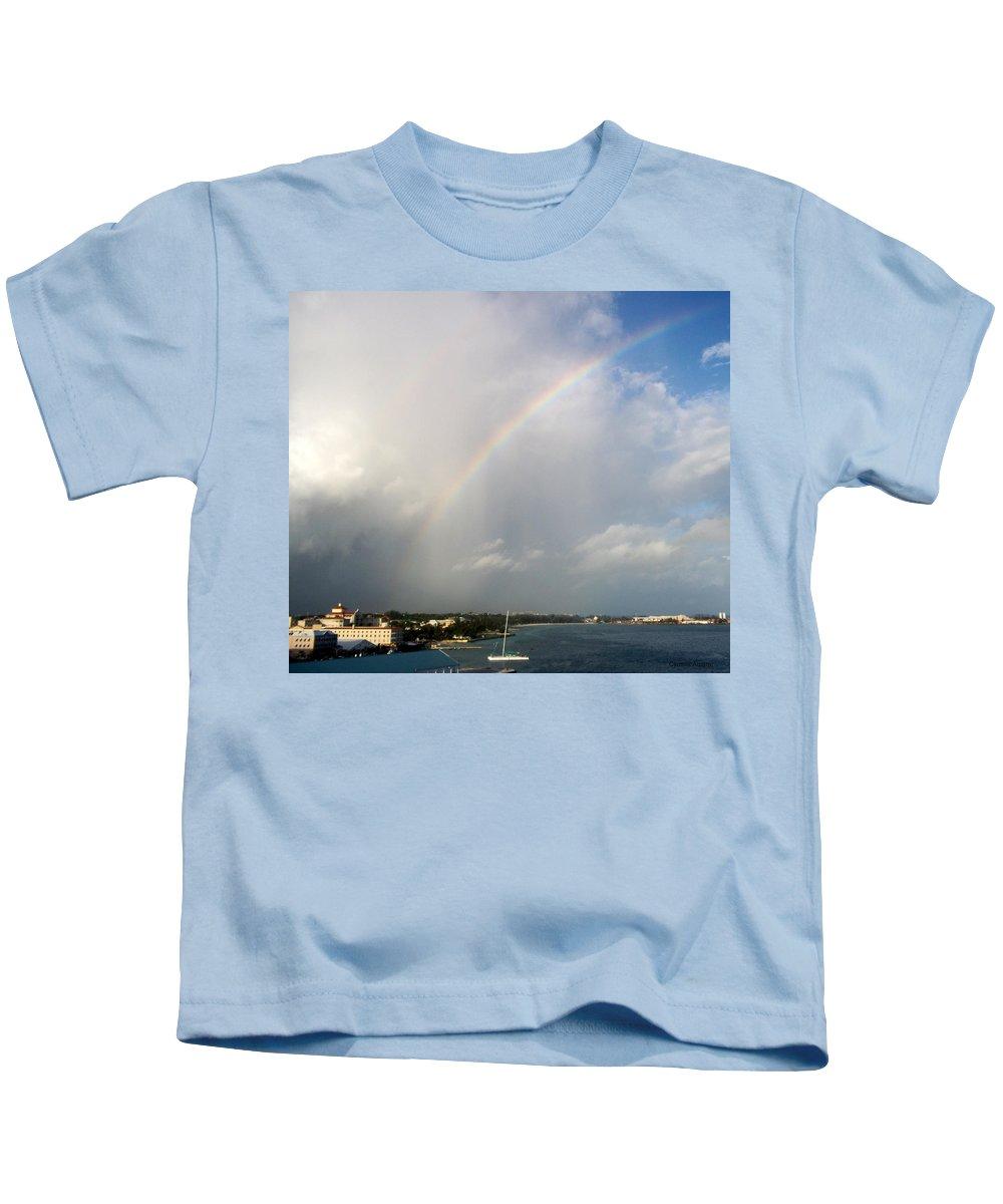 Rainbow Kids T-Shirt featuring the photograph Caribbean Rainbow by Cynthia Amaral