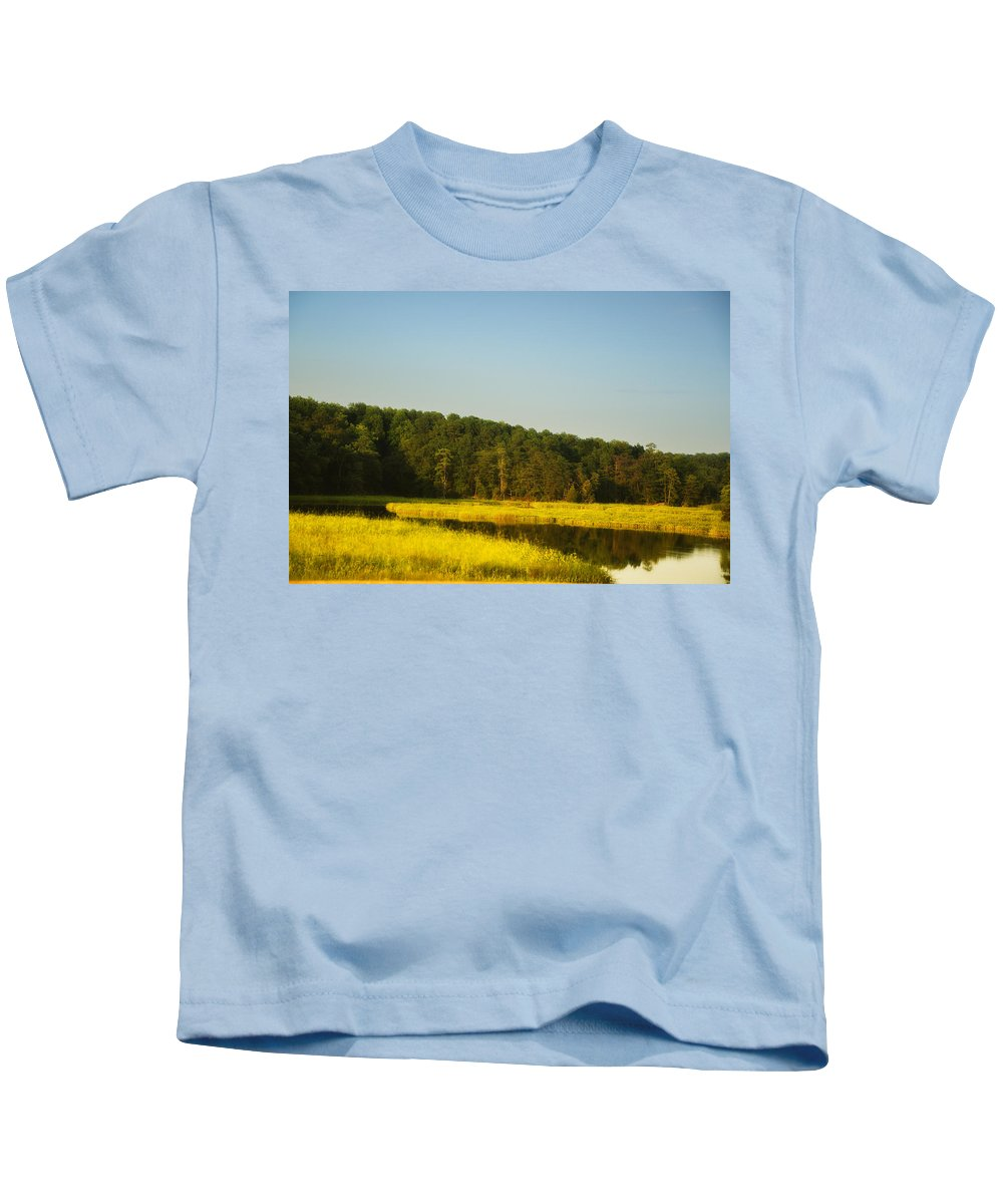 Carolina Morning Kids T-Shirt featuring the photograph Carolina Morning by Bill Cannon
