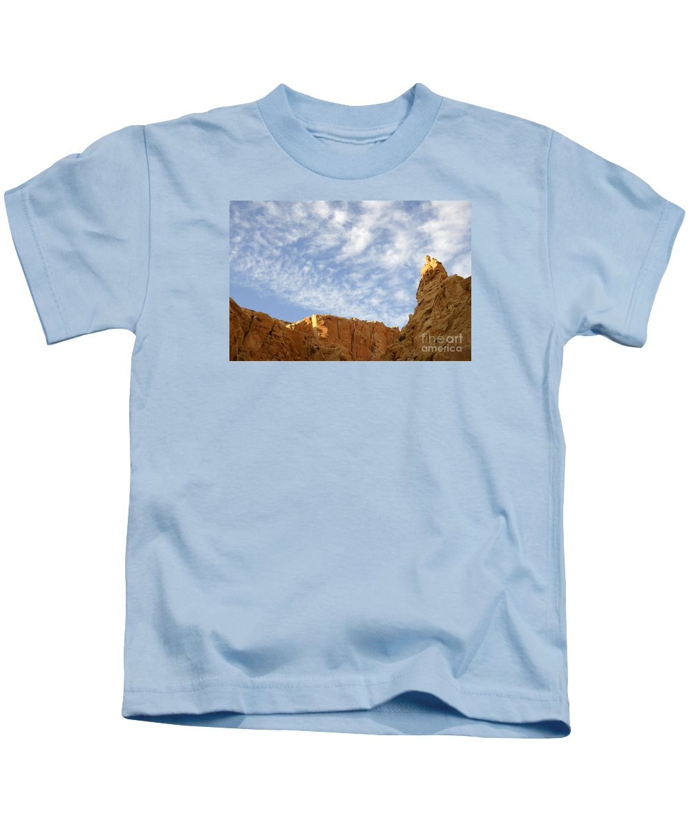 Beauty Of Sandstone Kids T-Shirt featuring the photograph Desert Landscape by Bob Christopher