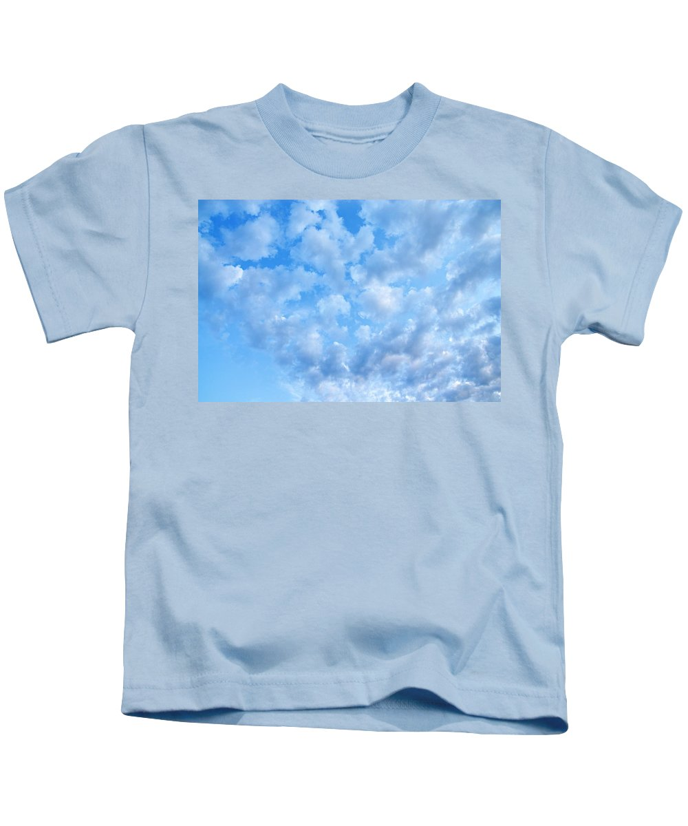 Clouds Kids T-Shirt featuring the photograph Clouds by Larry Ricker