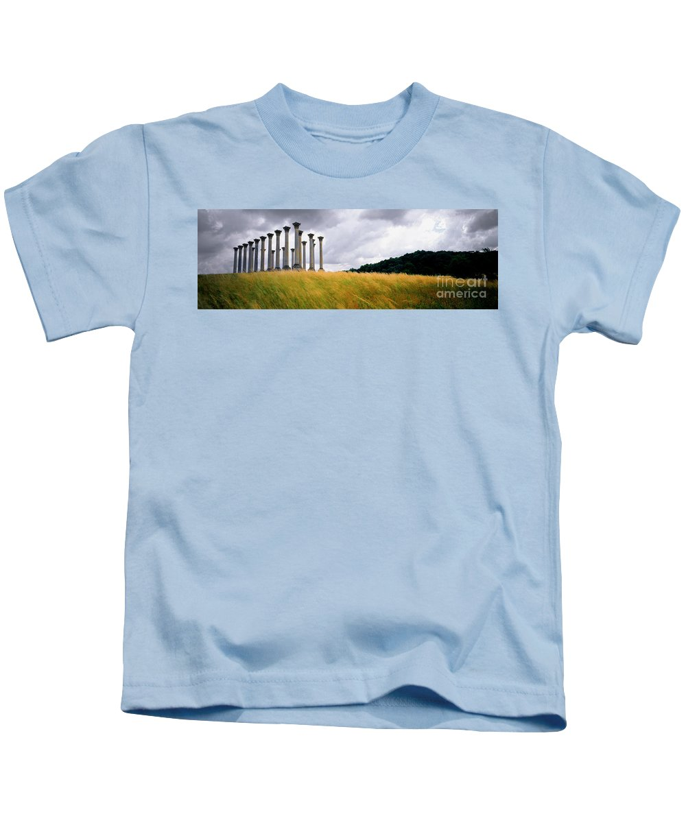 Column Kids T-Shirt featuring the photograph Columns 2 by Mike Nellums
