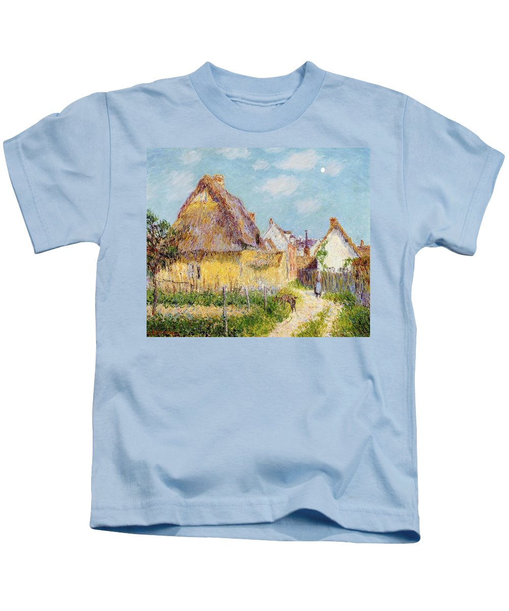 Cottage At Le Vaudreuil Kids T-Shirt featuring the painting Cottage At Le Vaudreuil by Gustave Loiseau
