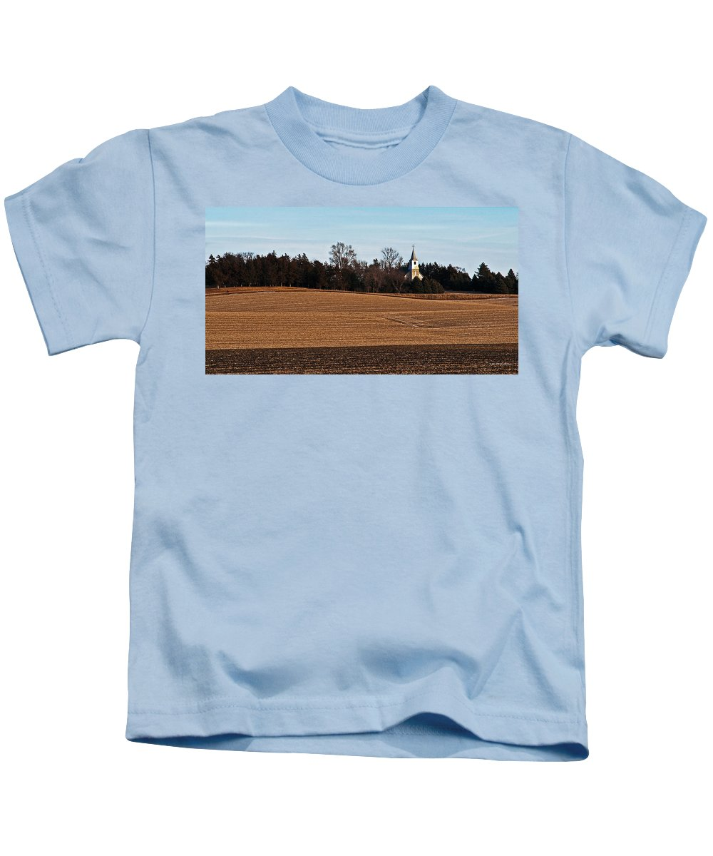 Midwest Kids T-Shirt featuring the photograph Country Church by Edward Peterson