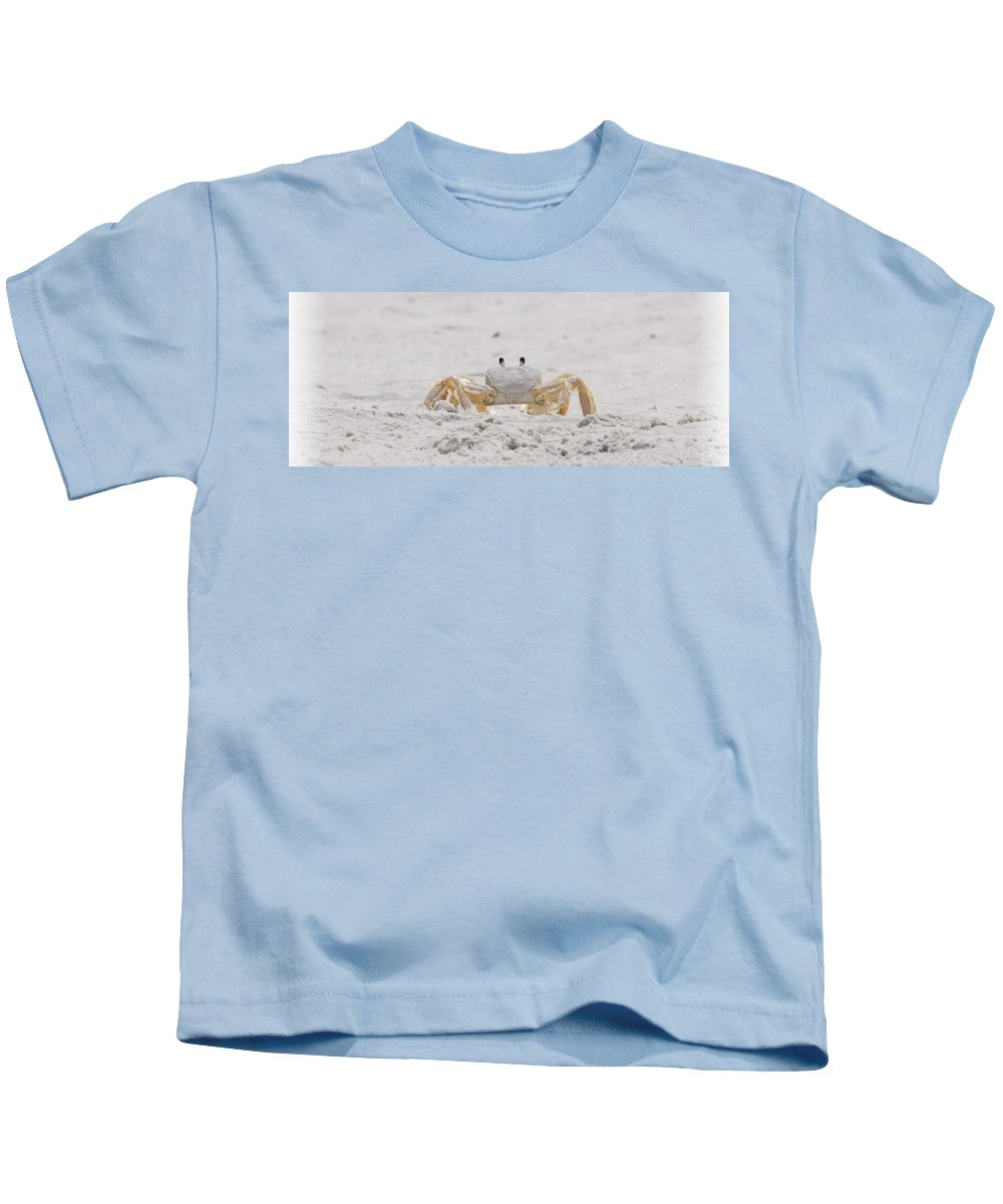 Crab Kids T-Shirt featuring the photograph Crabby Eyes by Judy Hall-Folde