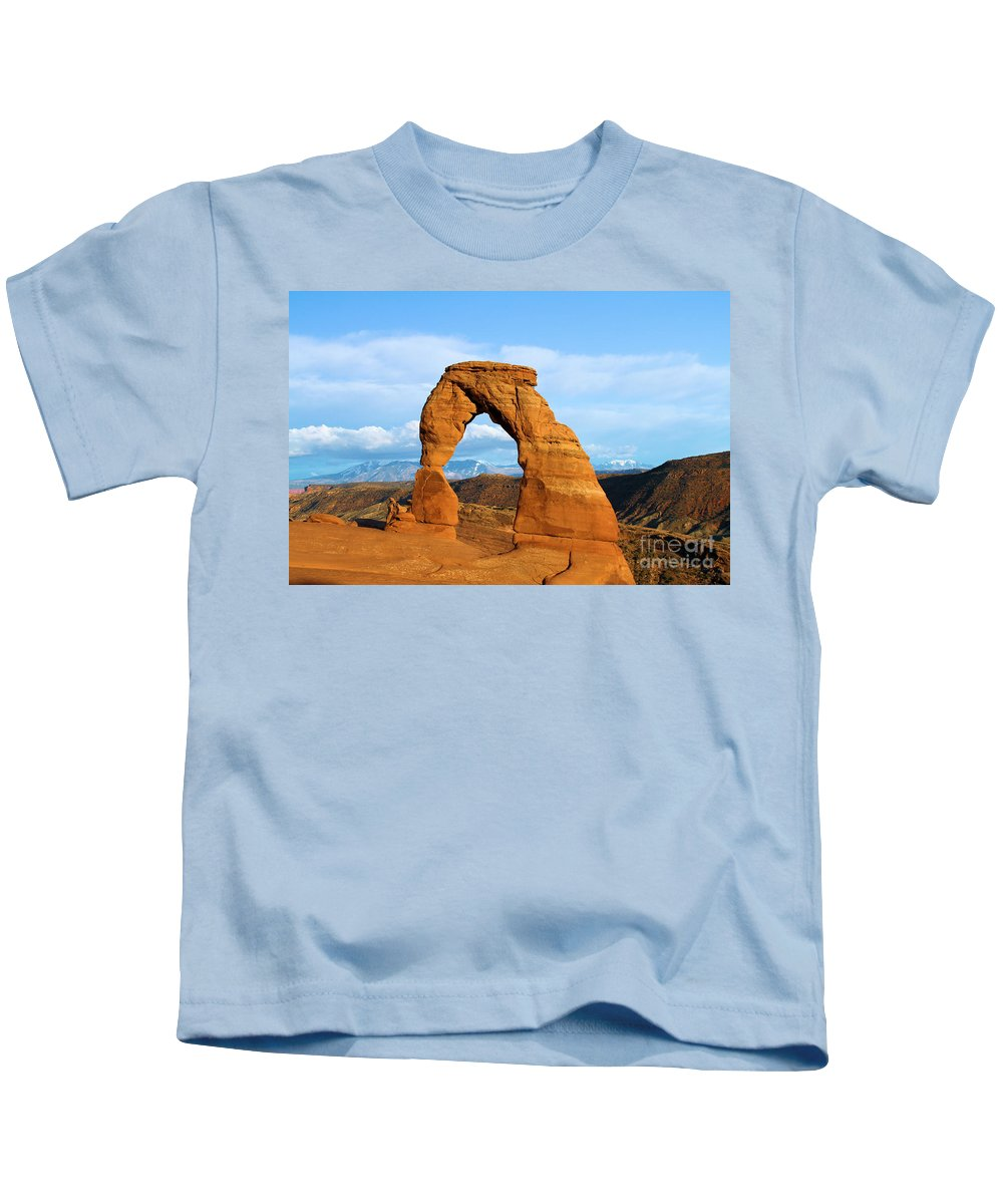 Delicate Arch Kids T-Shirt featuring the photograph Delicate Sights by Adam Jewell