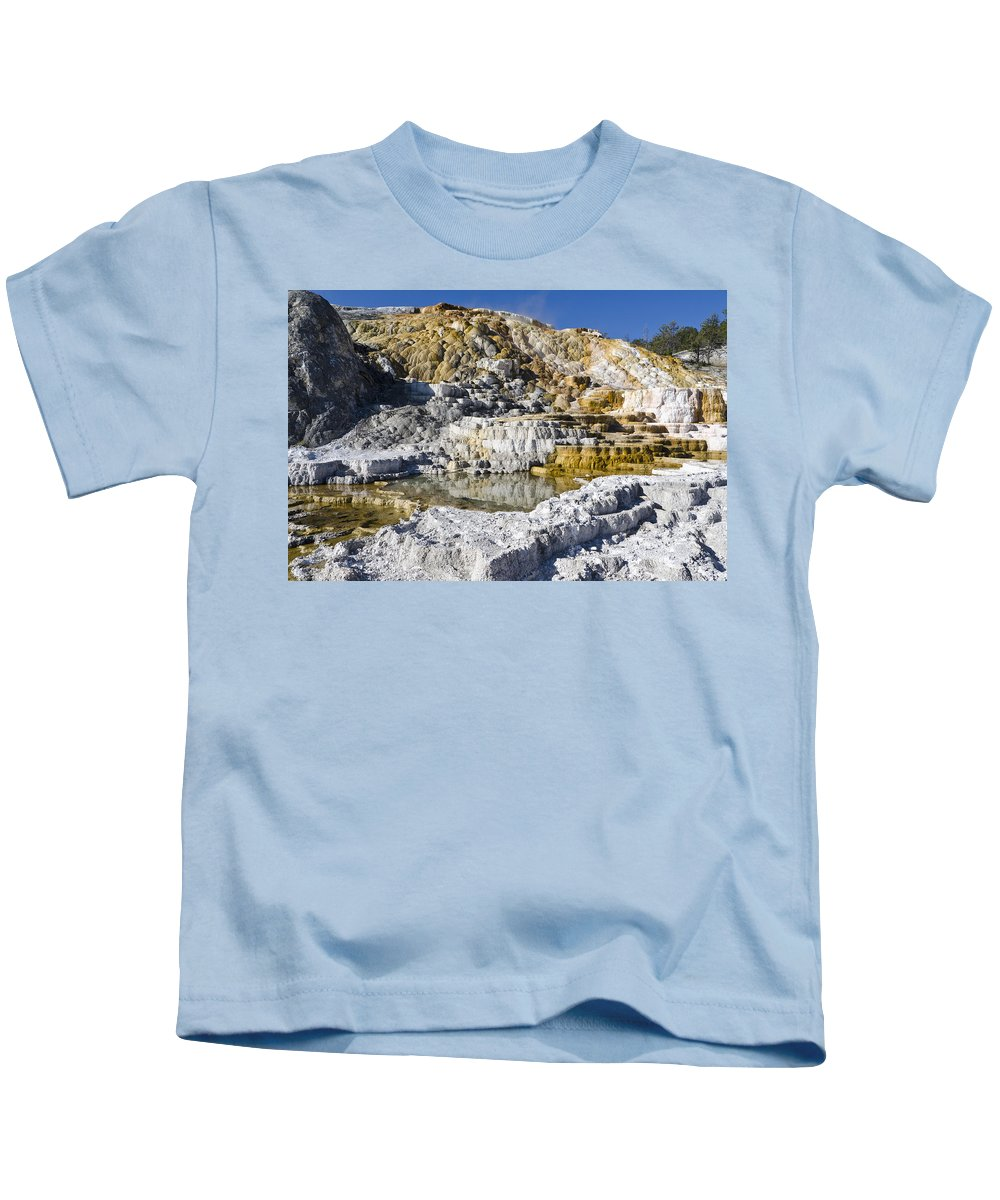 Yellowstone National Park Kids T-Shirt featuring the photograph Devils Thumb by Jon Berghoff