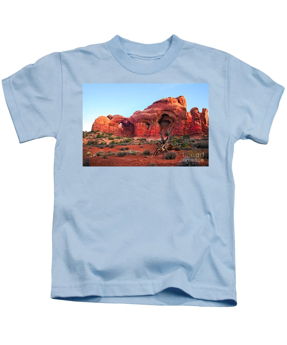 Arches National Park Kids T-Shirt featuring the photograph Double Arch by Robert Bales