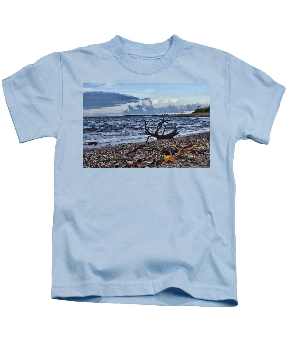 Driftwood Kids T-Shirt featuring the photograph Drift Wood by Douglas Barnard