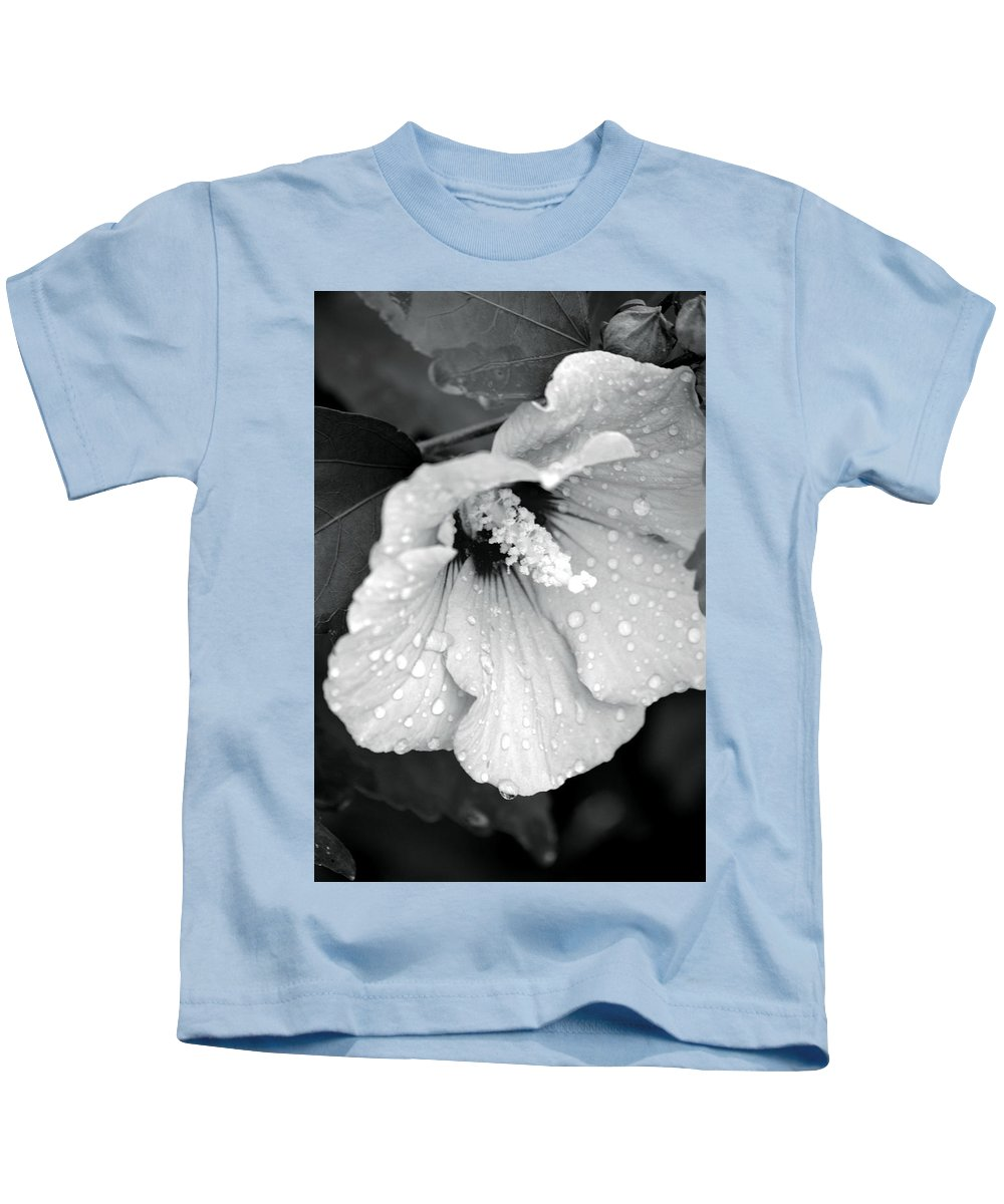 Droplets Kids T-Shirt featuring the photograph Droplets by Maria Urso
