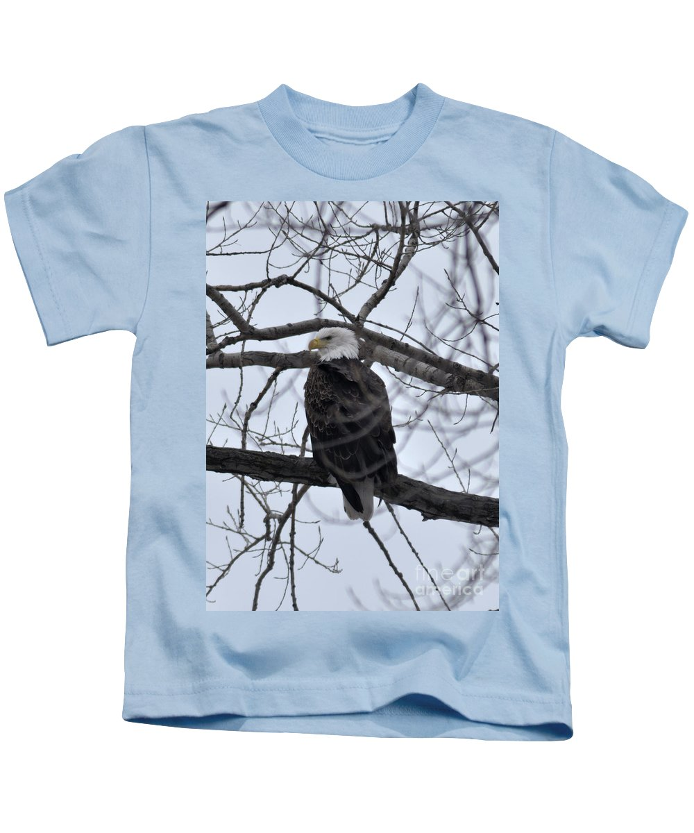 Eagle Kids T-Shirt featuring the photograph Eagle In The Wild by Ronald Grogan