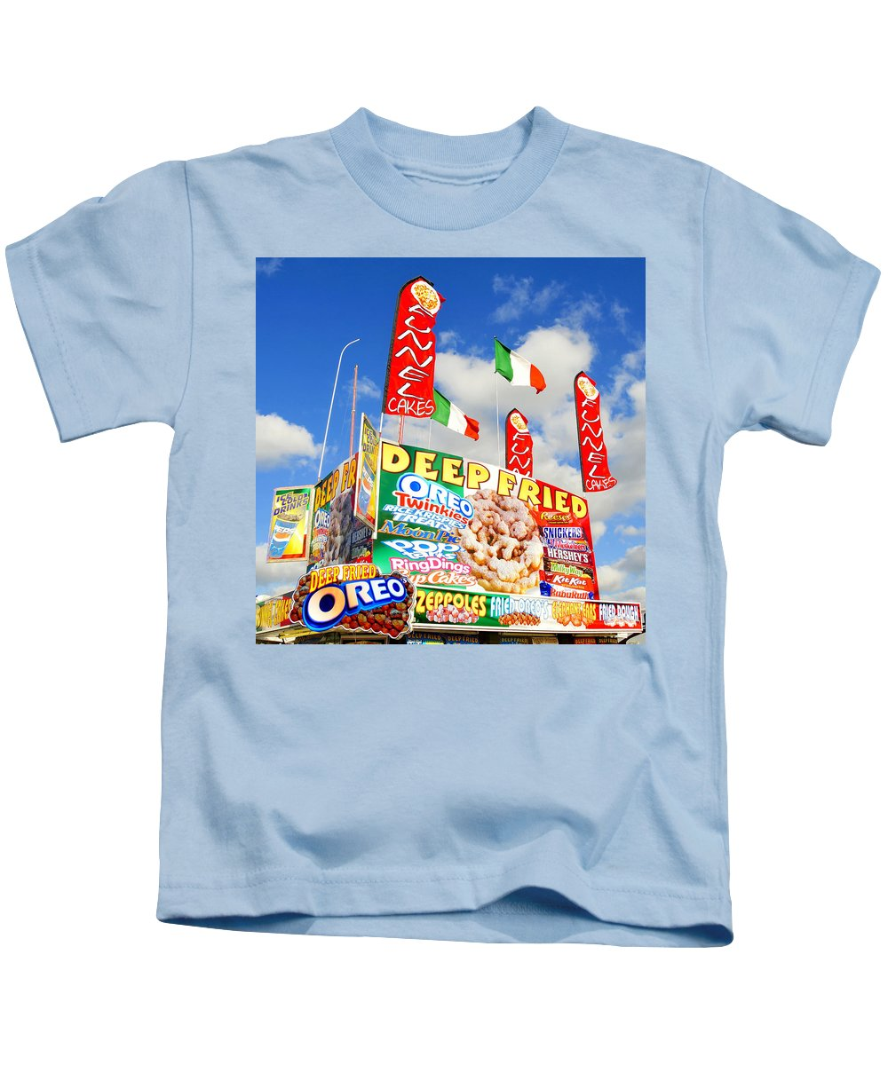 Fine Art Photography Kids T-Shirt featuring the photograph Fair Food by David Lee Thompson