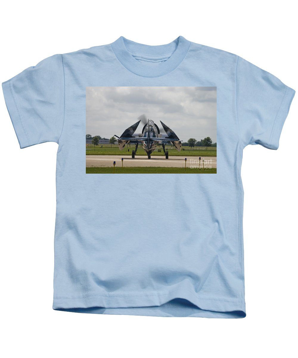 Tbm Kids T-Shirt featuring the photograph Folded Wings by Tim Mulina