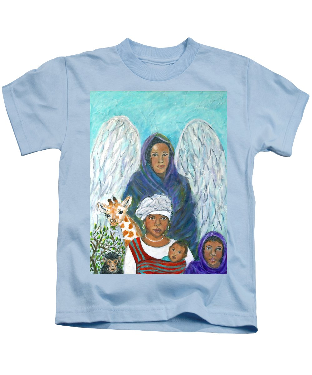 Angel Kids T-Shirt featuring the painting For The Love Of Charlotte by The Art With A Heart By Charlotte Phillips