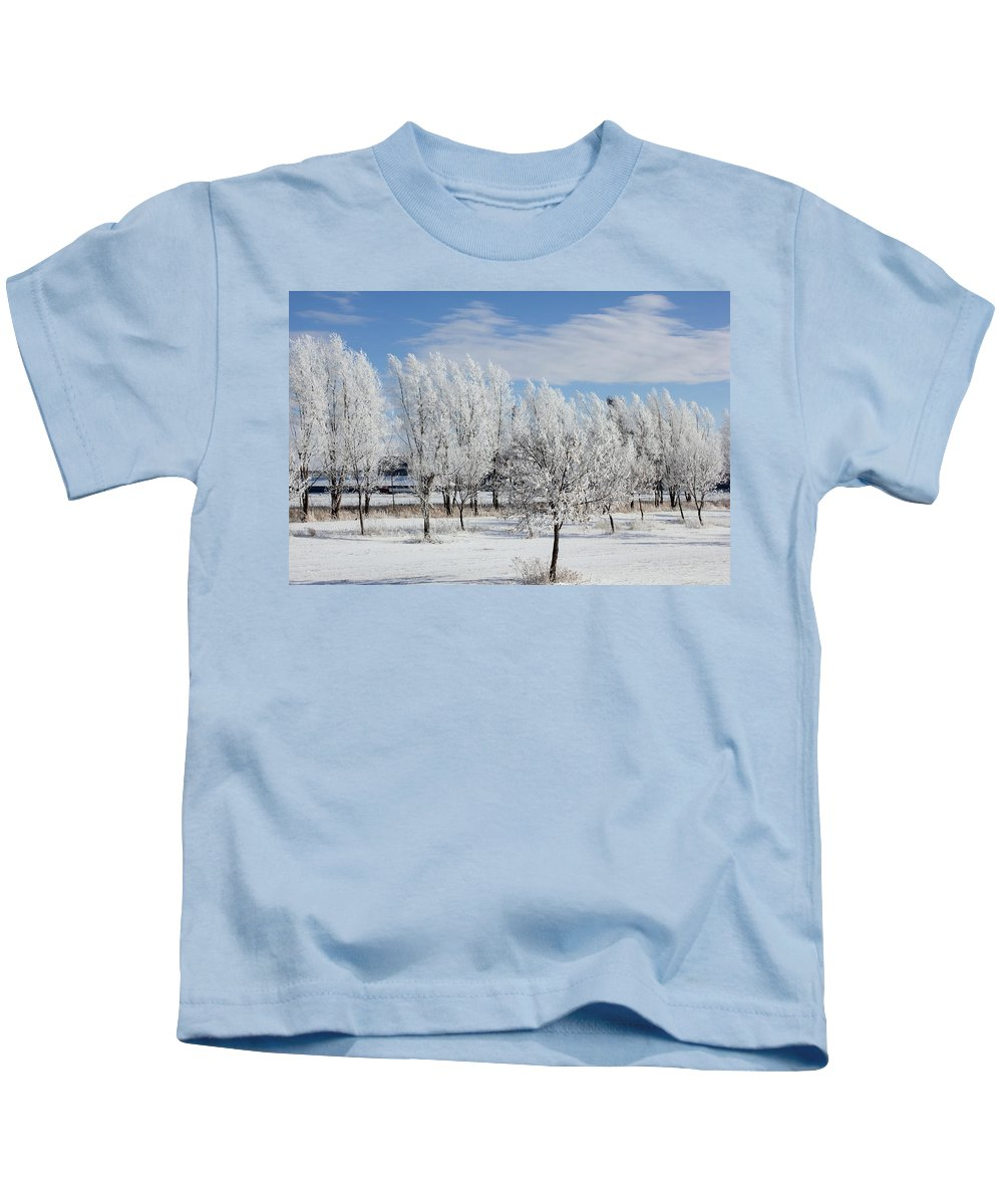 Landscape Kids T-Shirt featuring the photograph Frosted by Bryan Noll