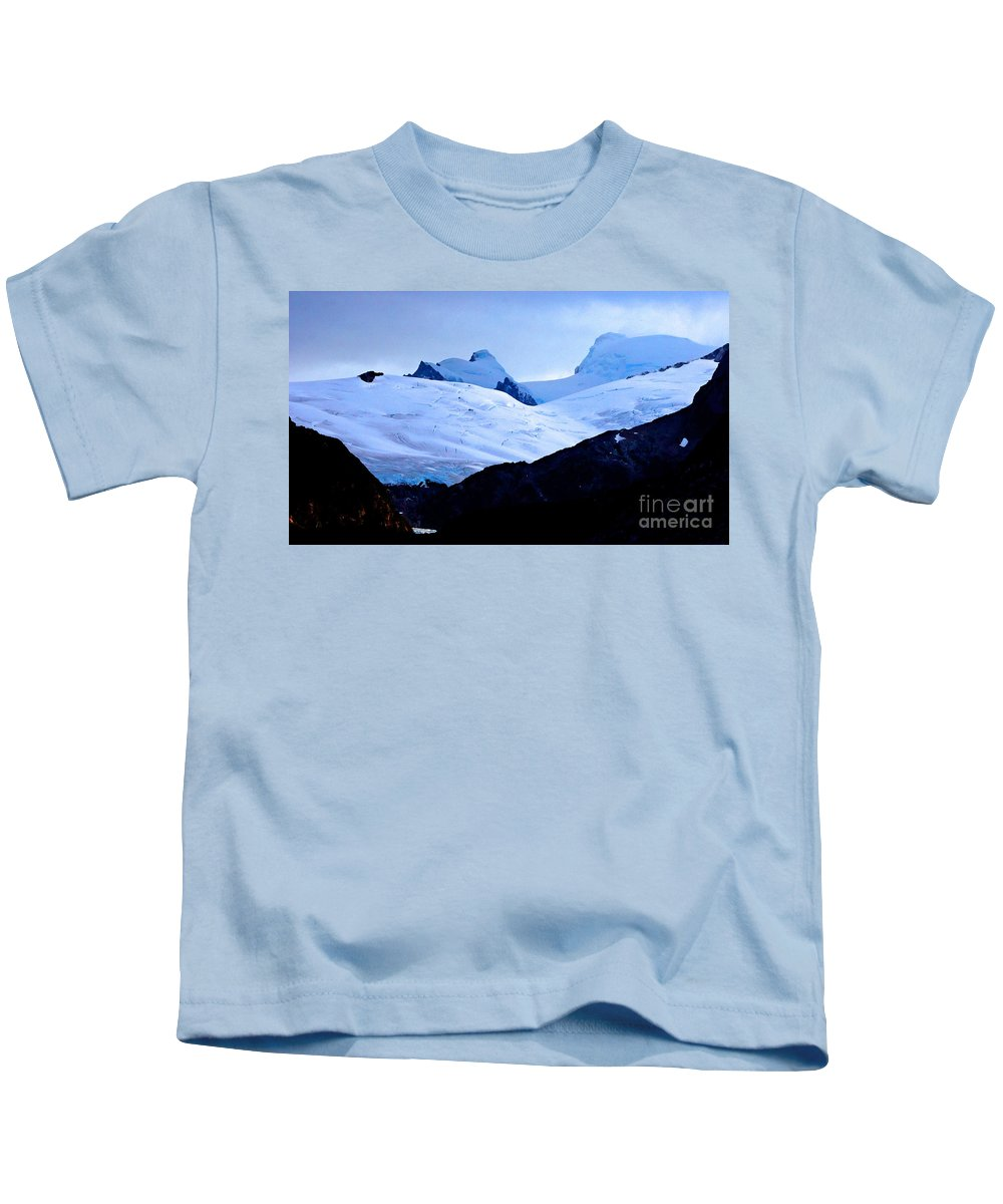 Glacier Kids T-Shirt featuring the photograph Glacier Cracks by Tap On Photo