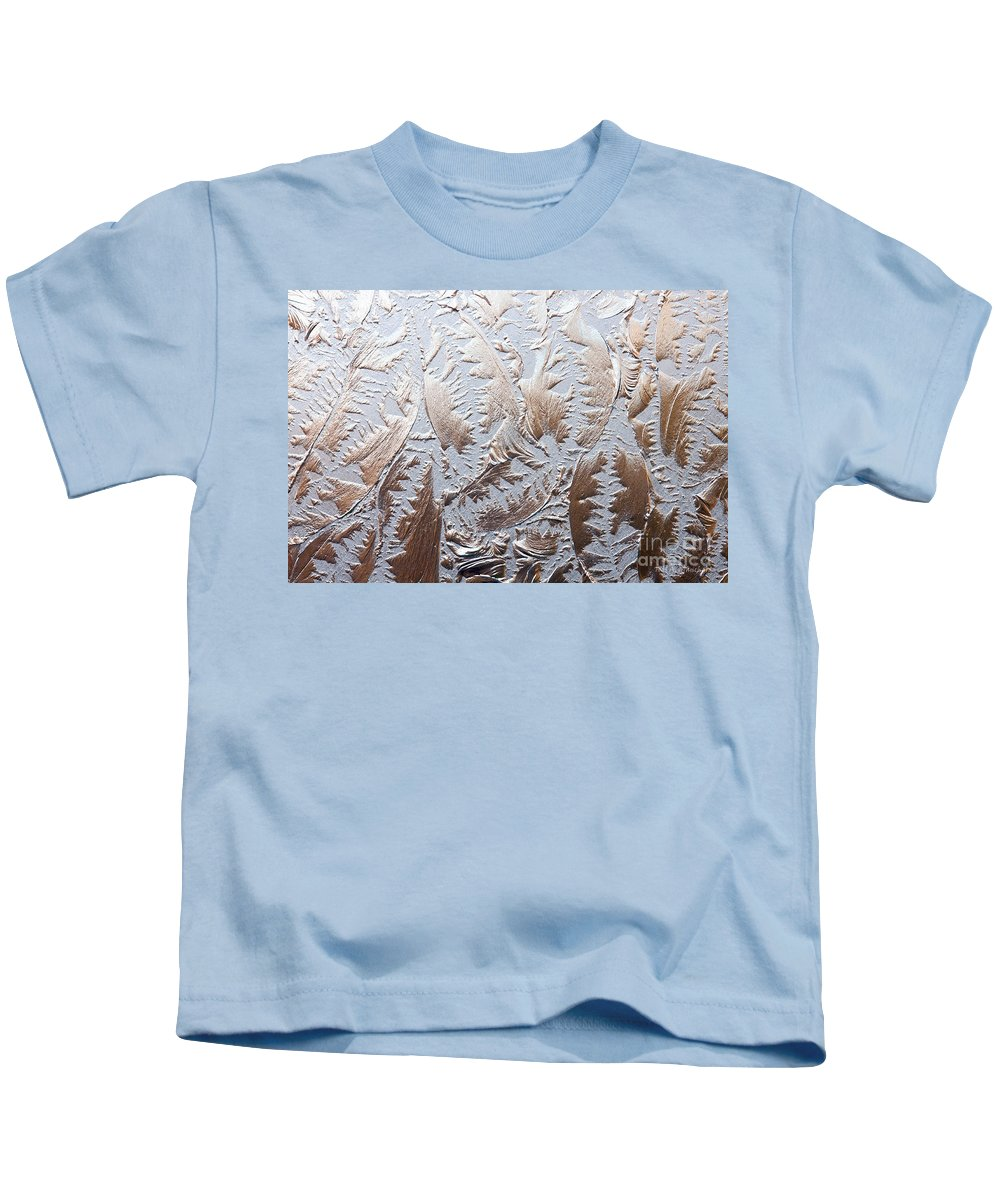 Abstract Kids T-Shirt featuring the photograph Glass Designs by Todd Blanchard