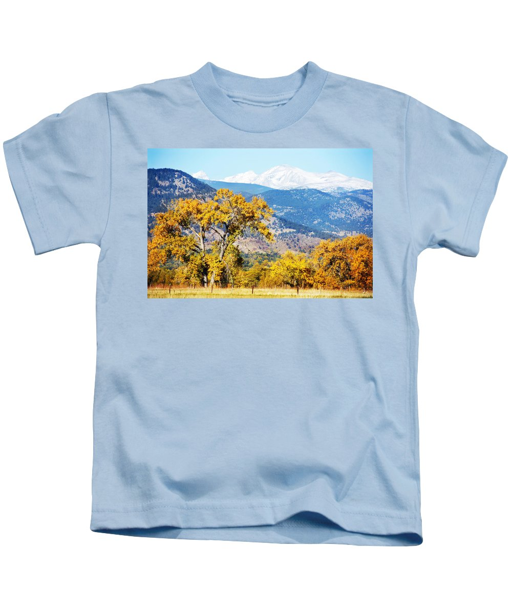 Picture Kids T-Shirt featuring the photograph Gold Leaves by Marilyn Hunt