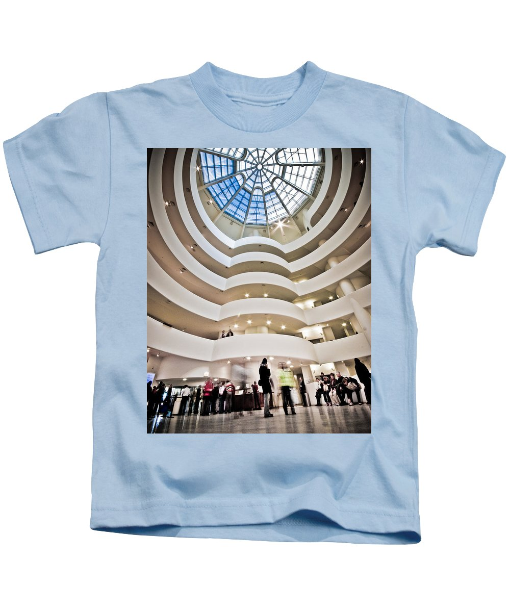 Abstract Kids T-Shirt featuring the photograph Guggenheim 1 by Sean Wray