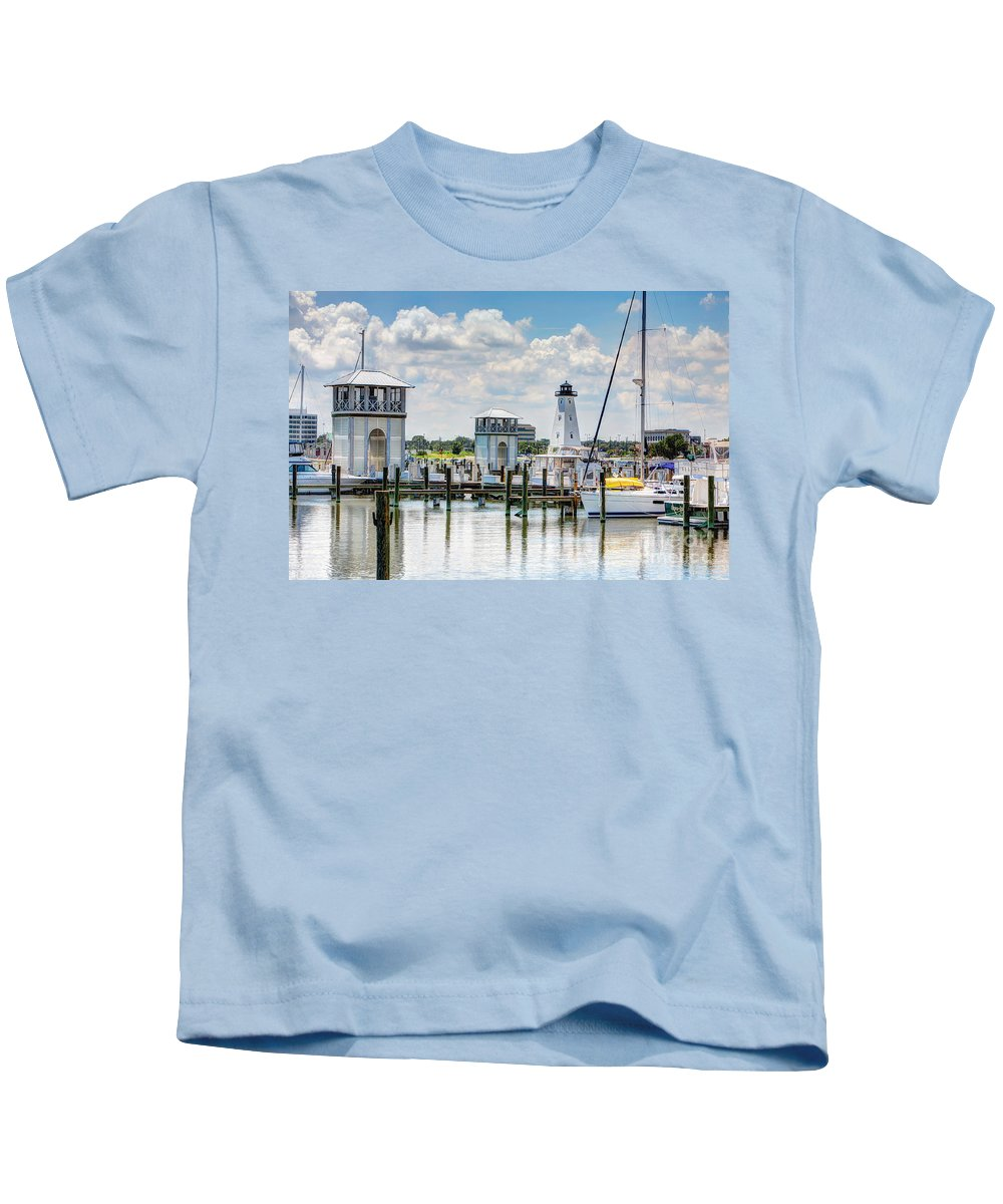Harbor Kids T-Shirt featuring the photograph Gulfport Harbor by Joan McCool