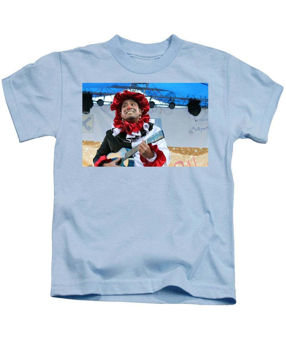 Christmas Kids T-Shirt featuring the photograph Heart To Heart Play At 1st Nativity International Christmas Festival by Munir Alawi