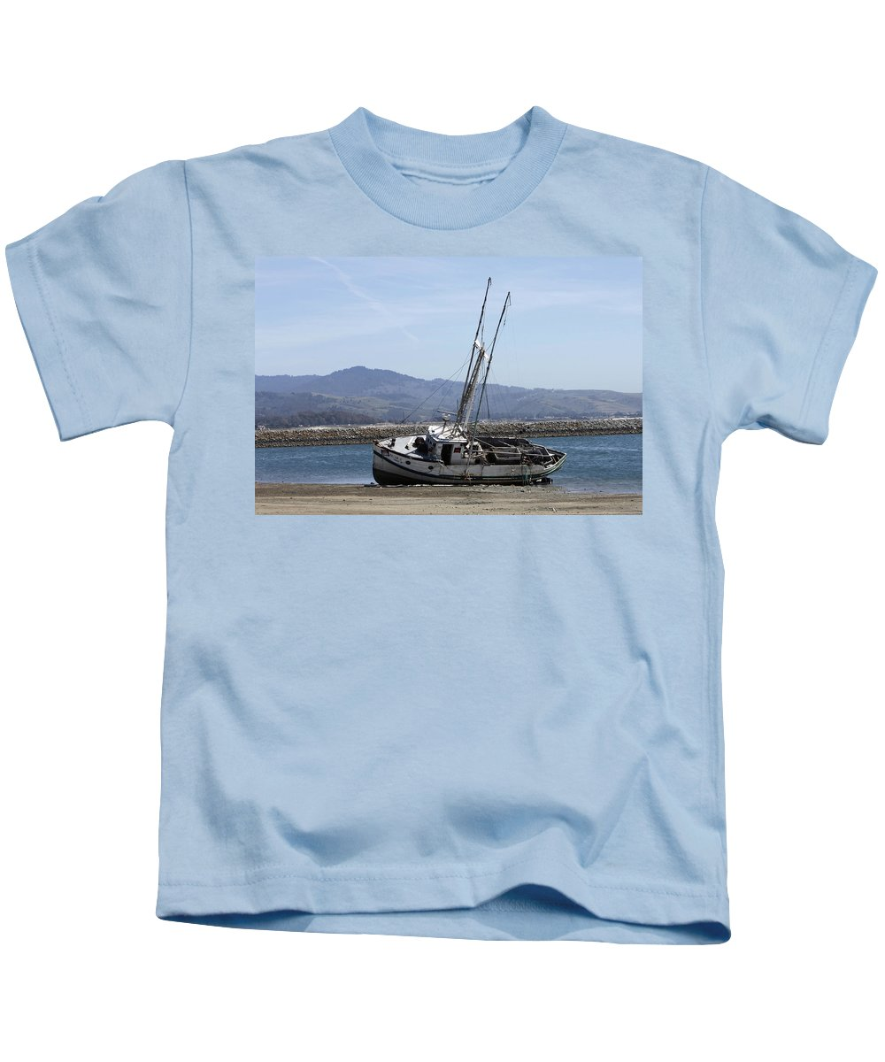 High And Mostly Dry Kids T-Shirt featuring the photograph High And Mostly Dry by Wes and Dotty Weber