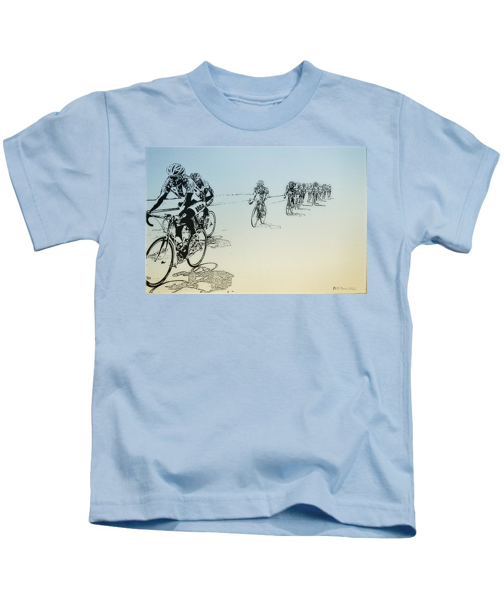 I Want To Ride My Bicycle Kids T-Shirt featuring the photograph I Want To Ride My Bicycle by Bill Cannon