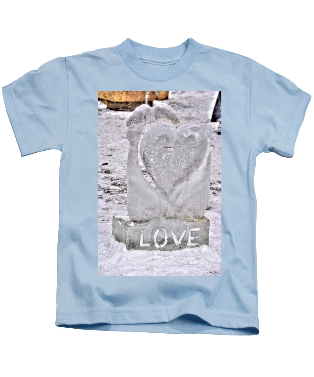 Kids T-Shirt featuring the photograph Ice Cold Love by Michael Frank Jr