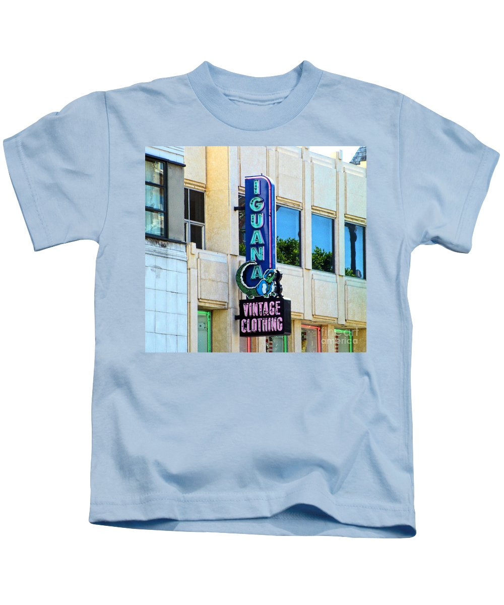 Hollywood Blvd And Vine Street California Hollywood And Vine Kids T-Shirt featuring the photograph Iguana Vintage Hollywood by RJ Aguilar