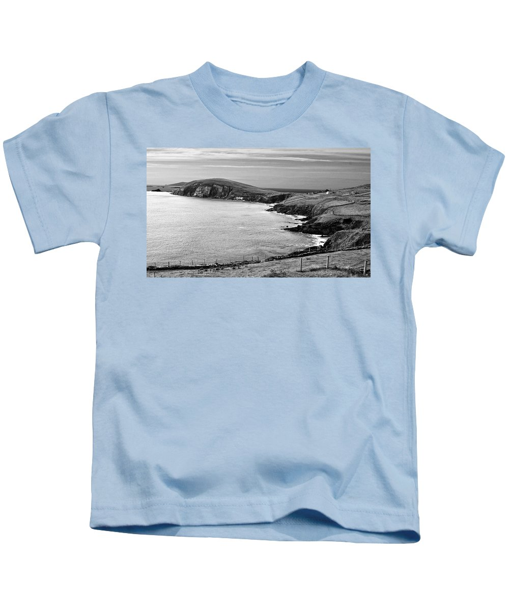 Bw Kids T-Shirt featuring the photograph Irish Western Coast by David Resnikoff