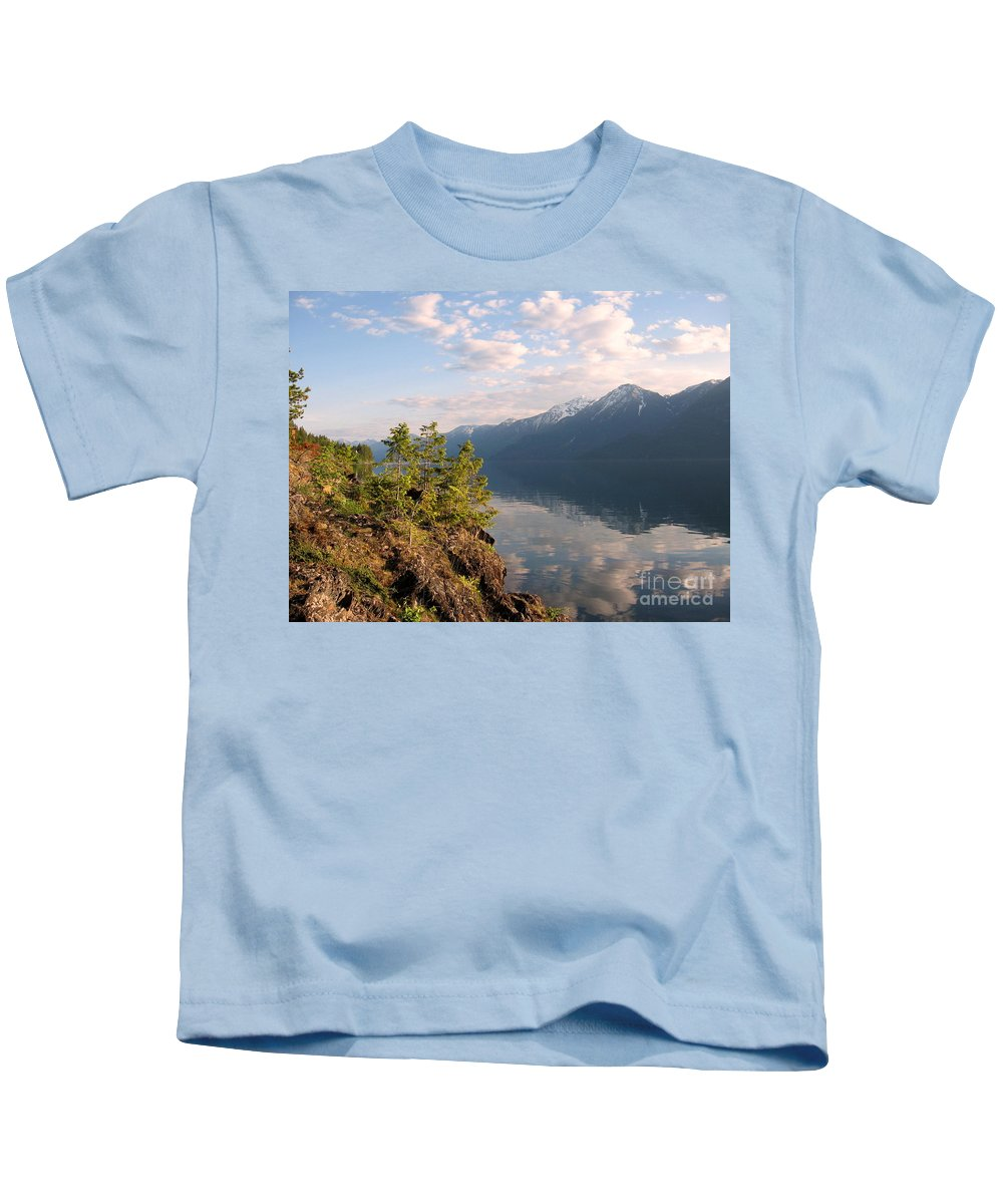 Kootenay Lake Kids T-Shirt featuring the photograph Kootenay Lake In May by Leone Lund