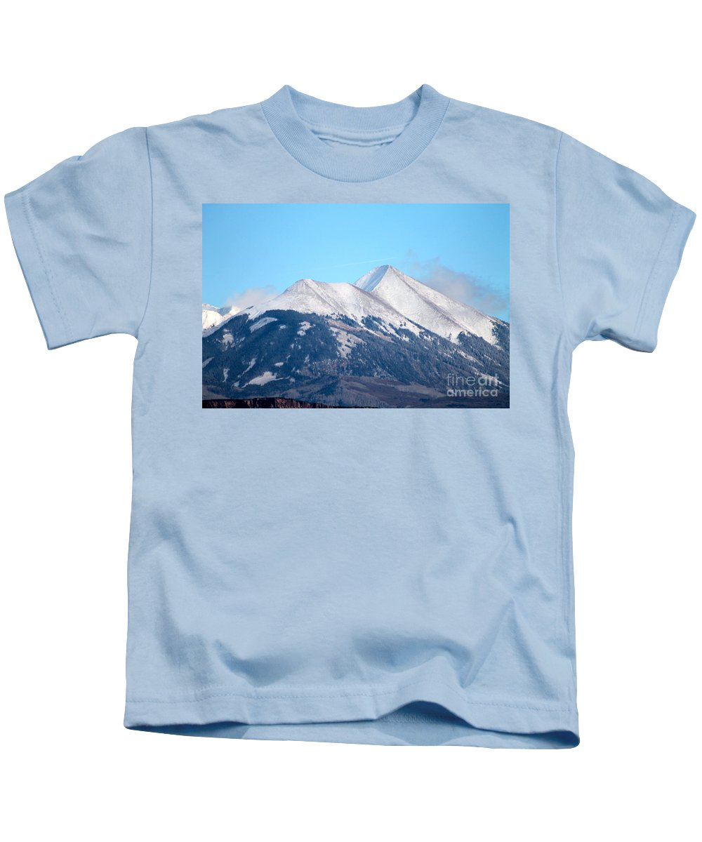 La Sal Kids T-Shirt featuring the photograph La Sal Mountains 111 by Pamela Walrath
