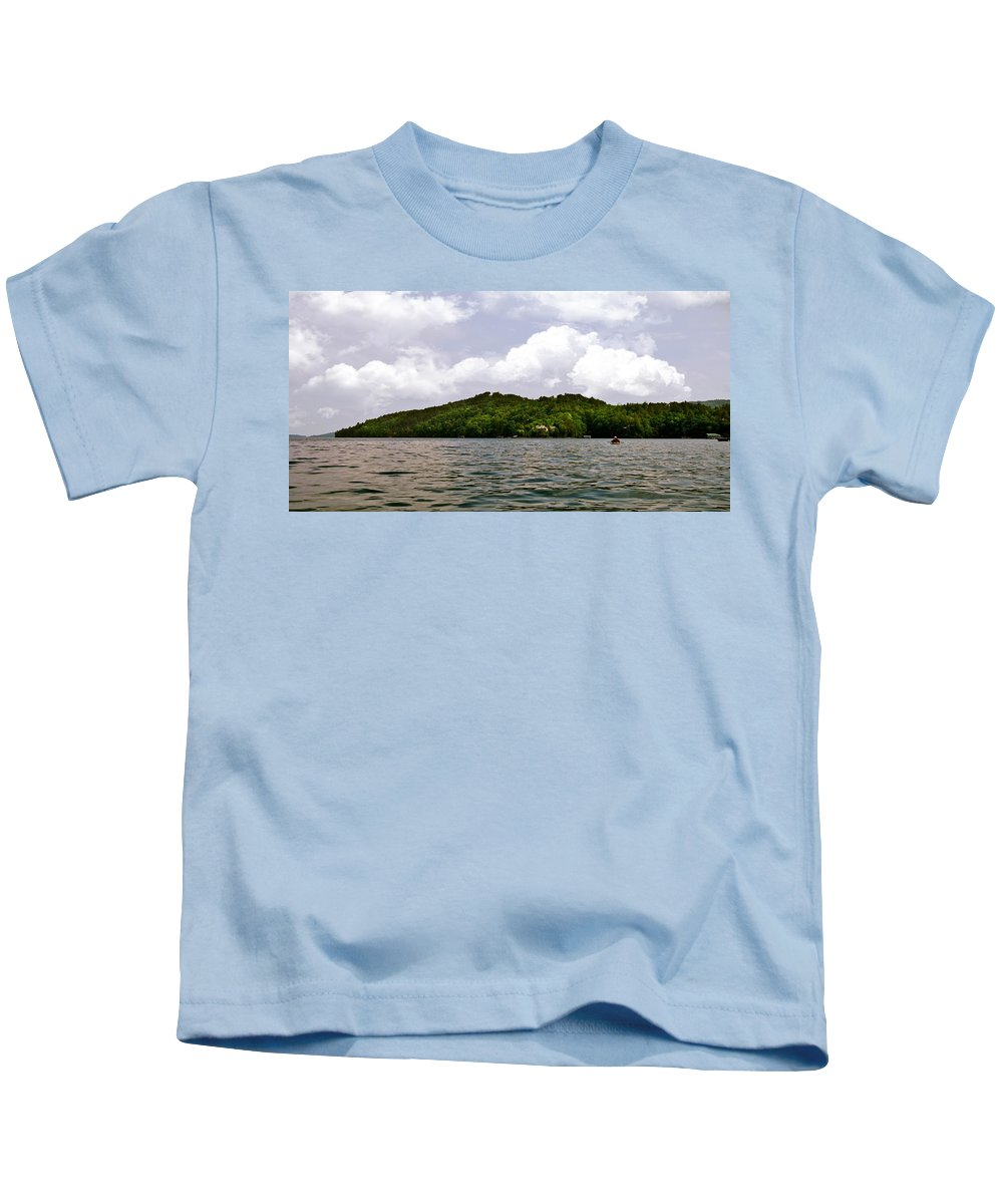 Lake Kids T-Shirt featuring the photograph Lake And Sky by Susan Leggett