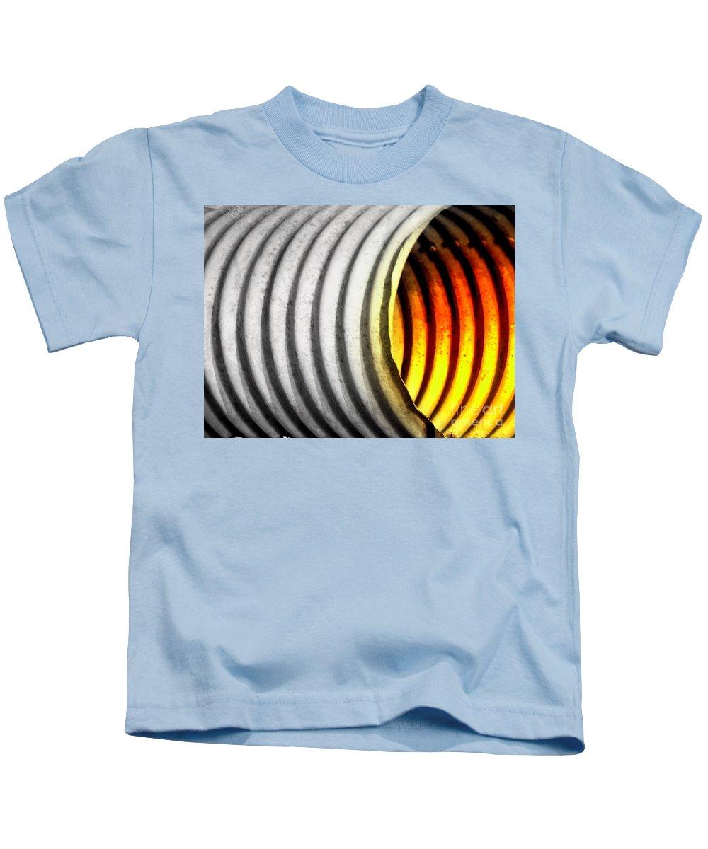 Corrugated Pipe Kids T-Shirt featuring the photograph Lava Tube by Joe Jake Pratt