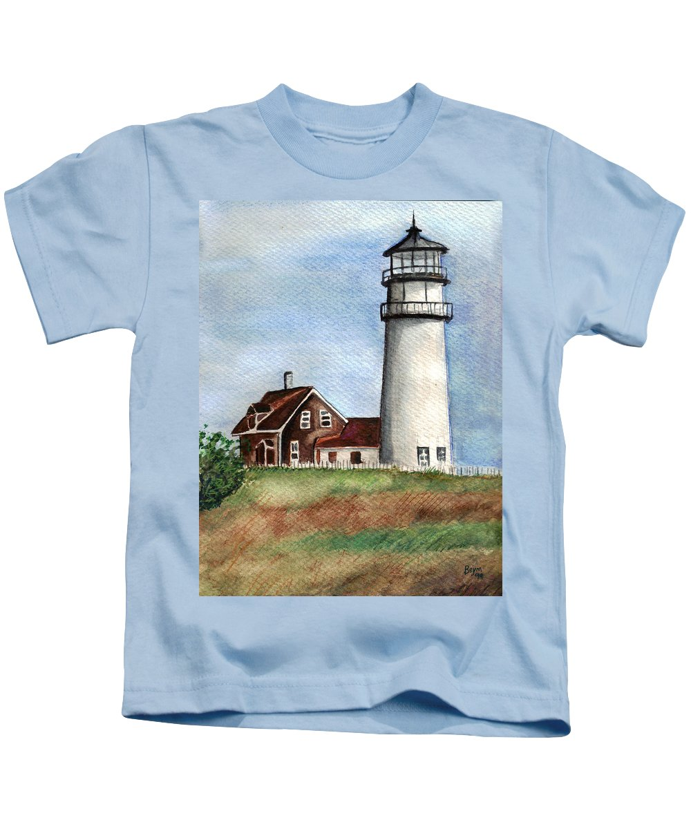 Light House Kids T-Shirt featuring the painting Light House by Clara Sue Beym