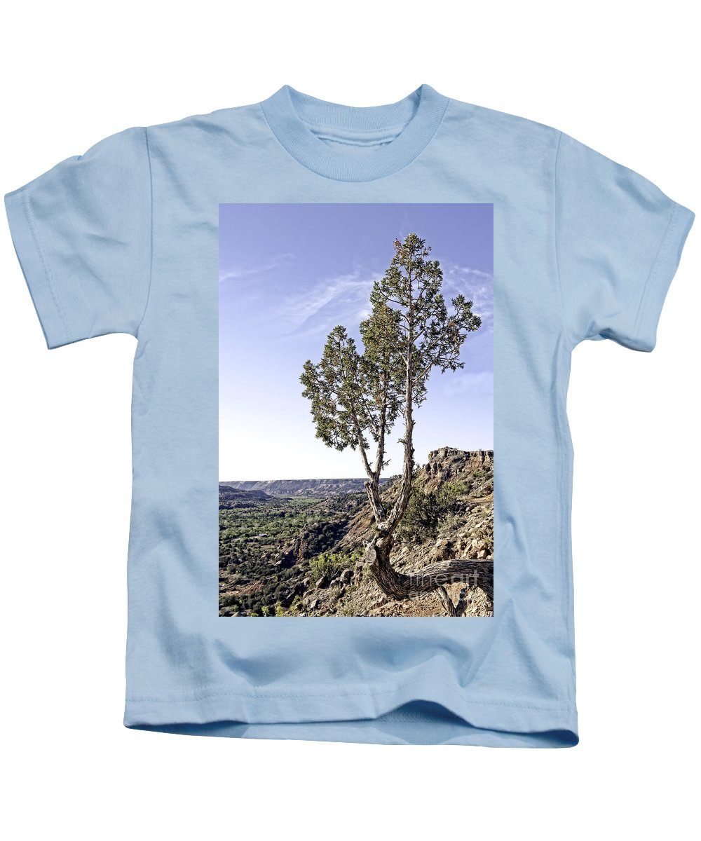 Art Kids T-Shirt featuring the photograph Living On The Edge by Charles Dobbs