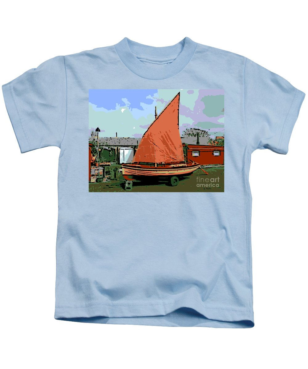 Lobster Boat Kids T-Shirt featuring the photograph Lobster Boat by George Pedro