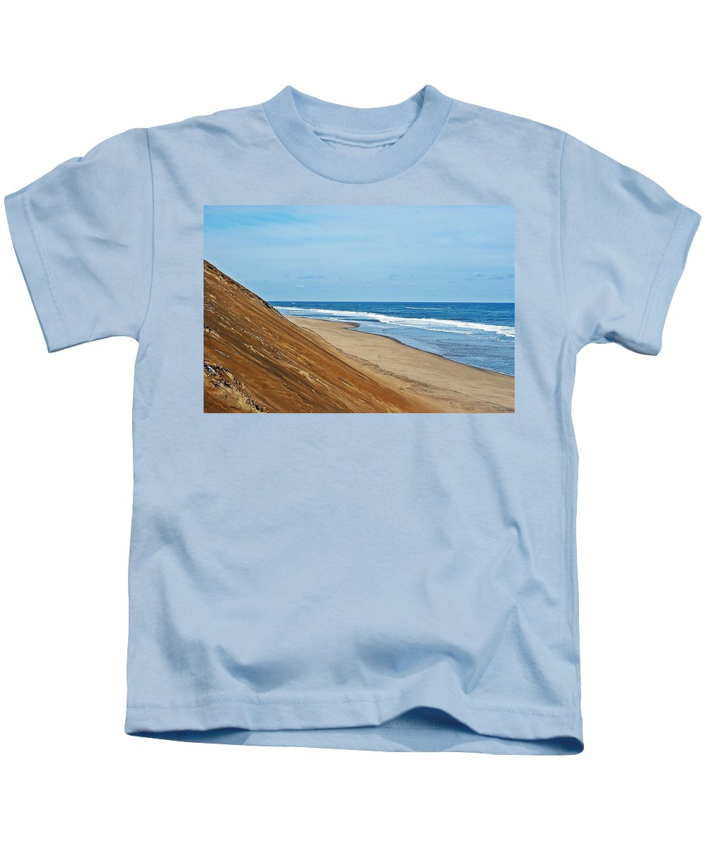 Longnook Kids T-Shirt featuring the photograph Longnook Beach I by Joe Faherty