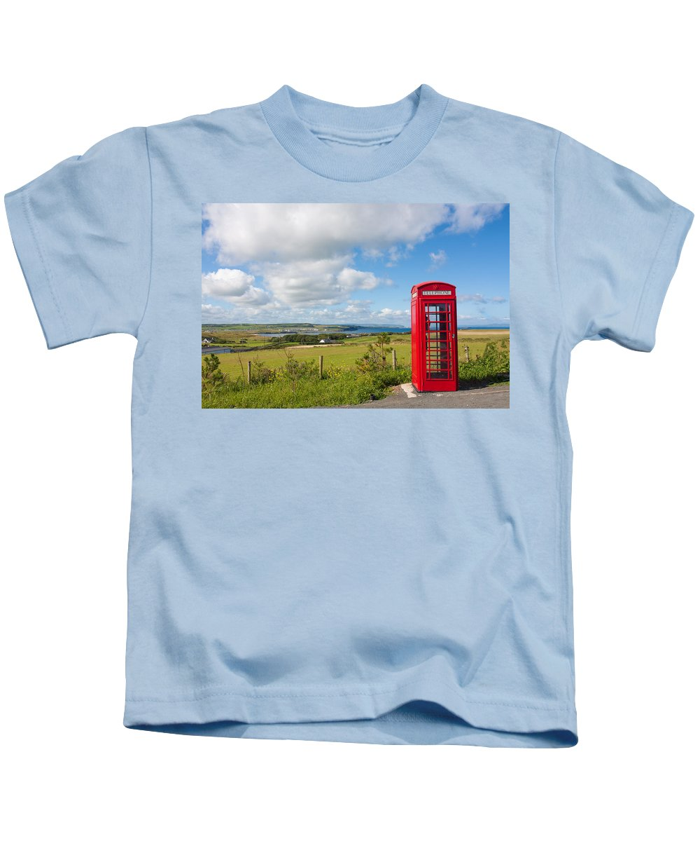 Blue Kids T-Shirt featuring the photograph Lost Calls by Semmick Photo
