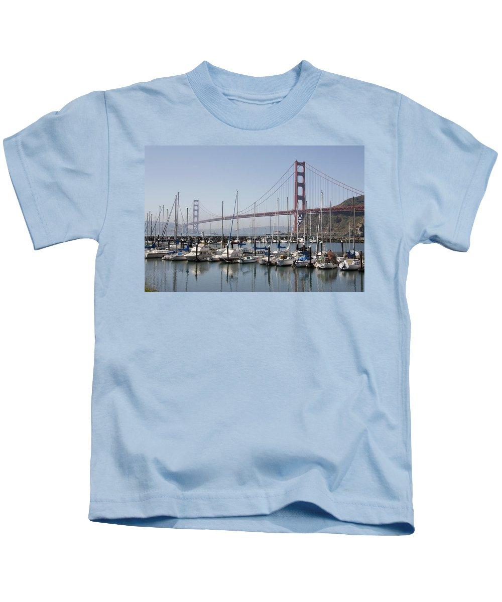 Marina At Golden Gate Kids T-Shirt featuring the photograph Marina At Golden Gate by Wes and Dotty Weber