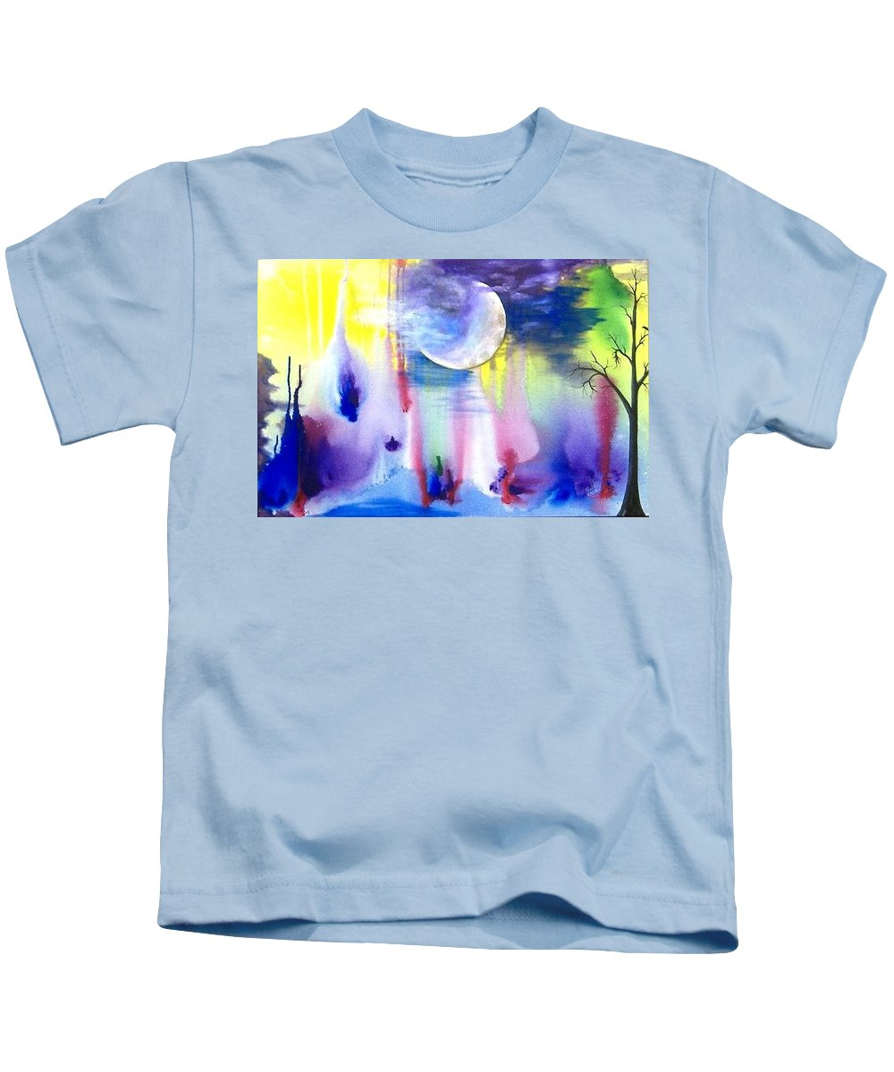 Dreams Kids T-Shirt featuring the painting Mistress Of Dreams by Rain Crow