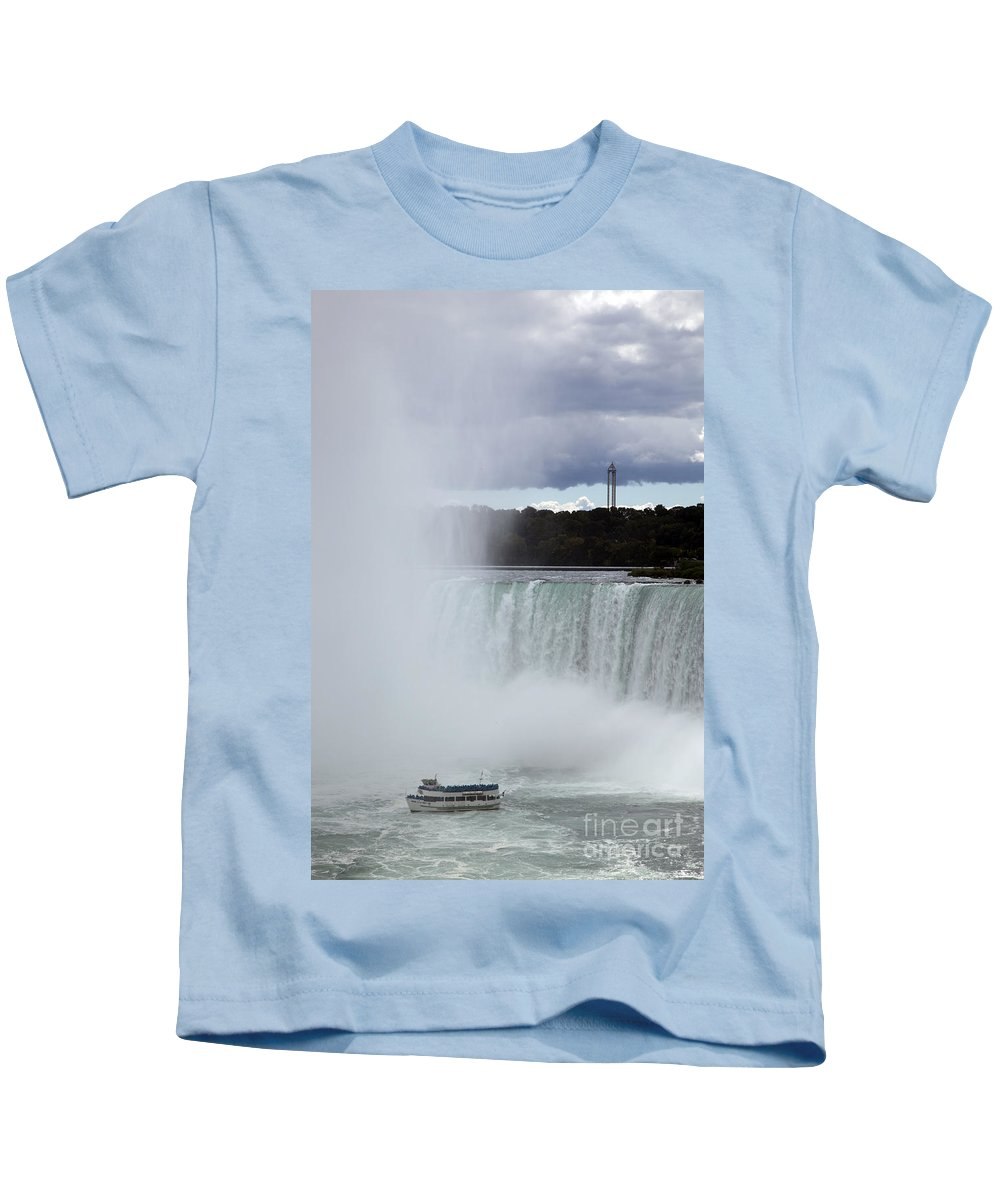Niagara Kids T-Shirt featuring the photograph Misty by Amanda Barcon