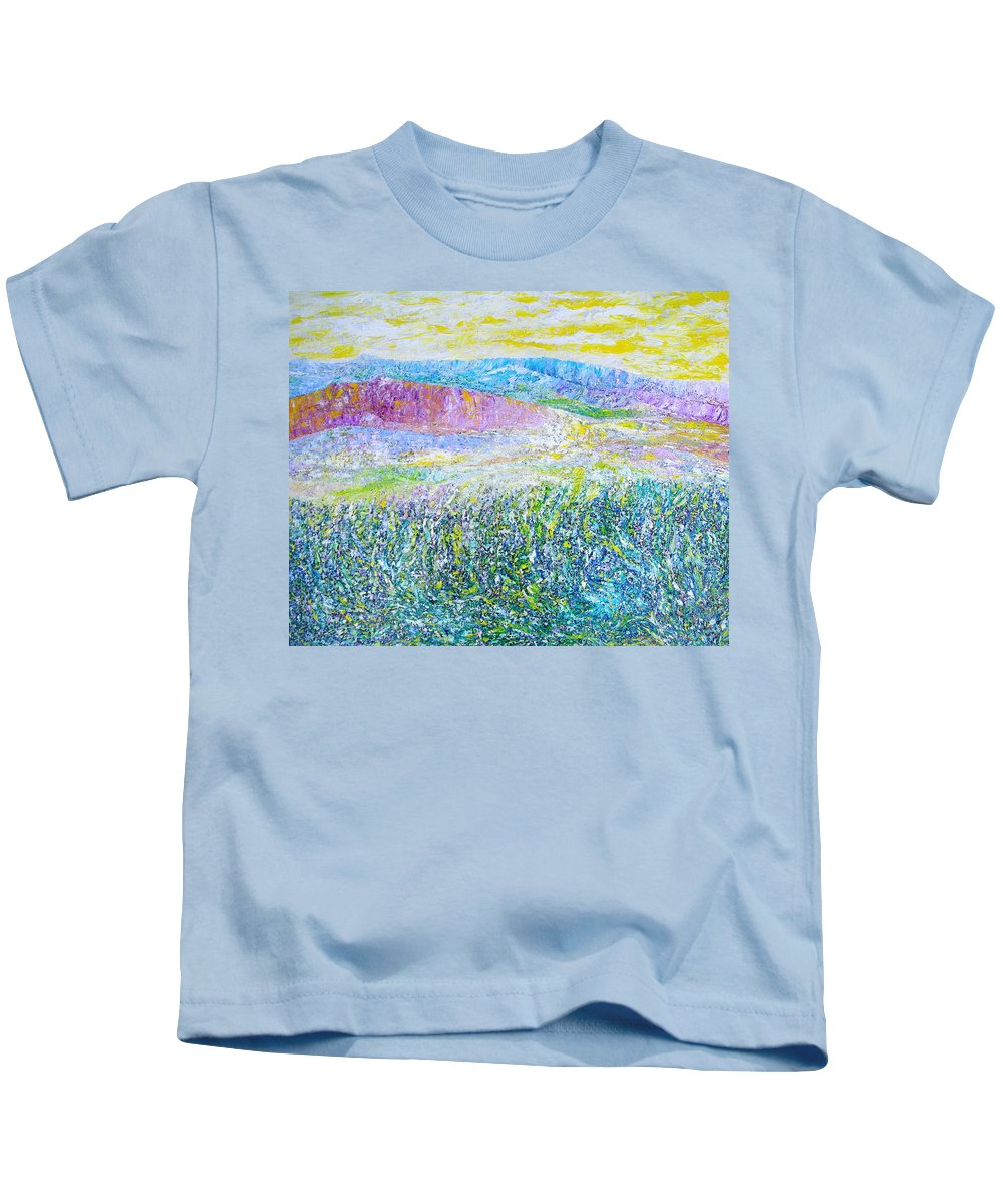 Landscape Kids T-Shirt featuring the painting Monterey by Dulcie Dee