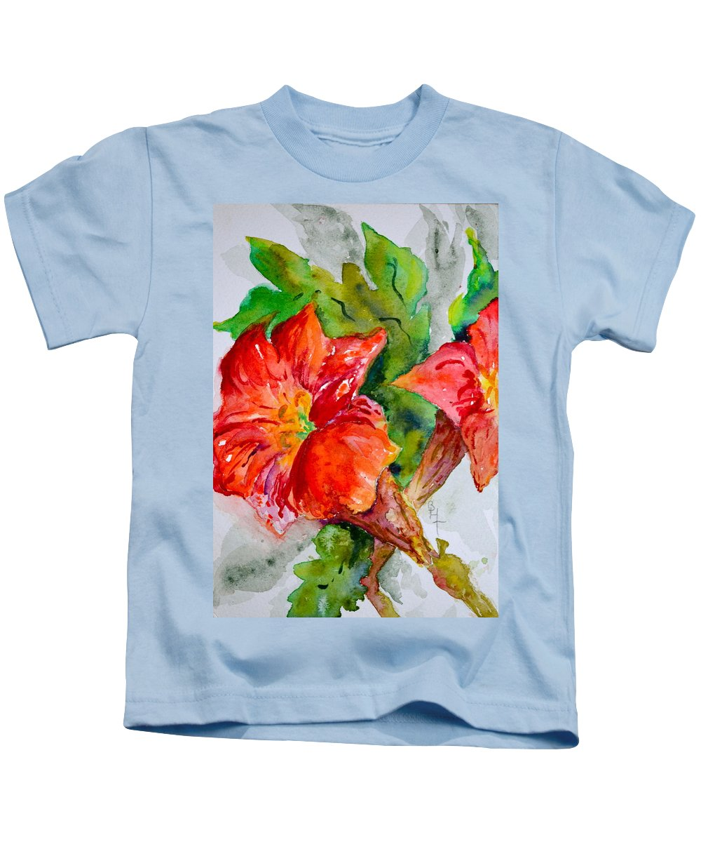 Watercolor Kids T-Shirt featuring the painting Morning Revelry by Beverley Harper Tinsley