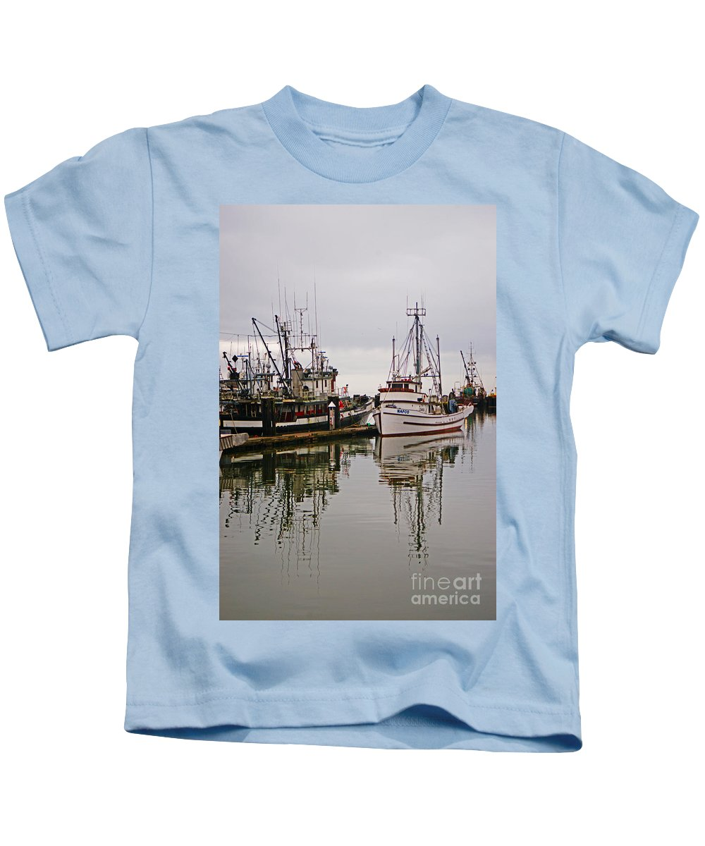 Fishing Boats Kids T-Shirt featuring the photograph Nafco Fishing Boat by Randy Harris