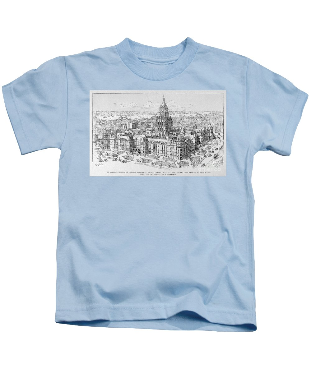 19th Century Kids T-Shirt featuring the photograph Natural History Museum by Granger
