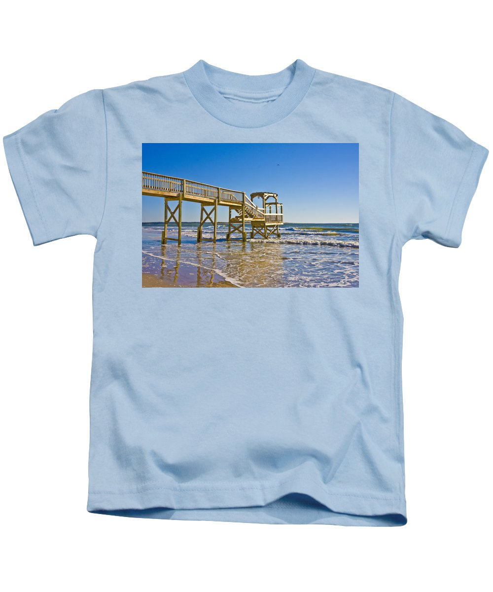 Topsail Kids T-Shirt featuring the photograph North Topsail Island by Betsy Knapp