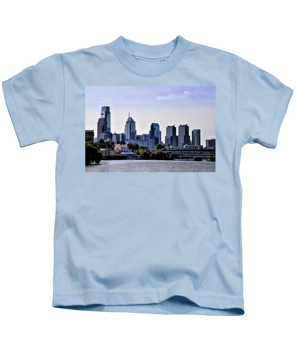 Philadelphia Kids T-Shirt featuring the photograph Philly by Bill Cannon